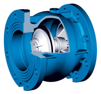 China Silence Check Valve DN200 / Flange drilled PN10 / SS 316 AISI / Pressure PN16 supplier