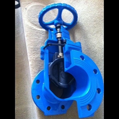 Hand wheel Resilient Seated Gate Valve Body By Cast Iron And Painted