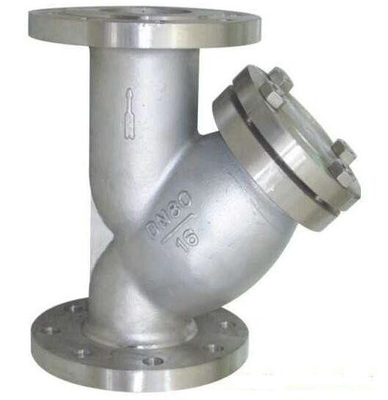 China PN16 Raised Face Flange End Industrial Water Strainers Cast Steel Body With 40 Microns SS304 Filter Element supplier