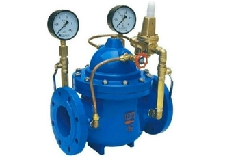 China Pressure Reducing Valve  DN 300 PN16 With Pilot Circuit  Including Automated Control Downstream Pressure supplier