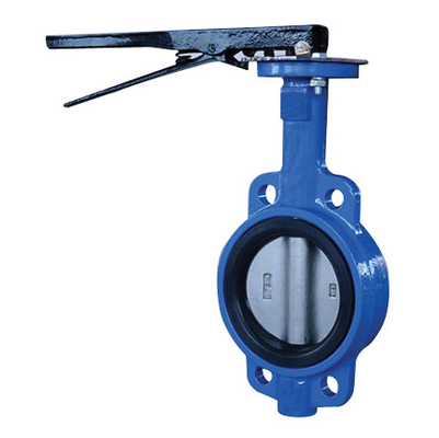 China 6 10 Wafer Style Butterfly Valve / Food Grade Exhaust Butterfly Valve supplier