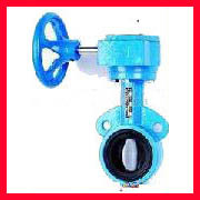 China Cast Iron Double Flanged Butterfly Valves For Chemical , Beverage supplier