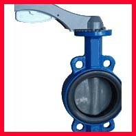 China Hand Manual Three Way Butterfly Valve / Wafer Type Butterfly Valve supplier