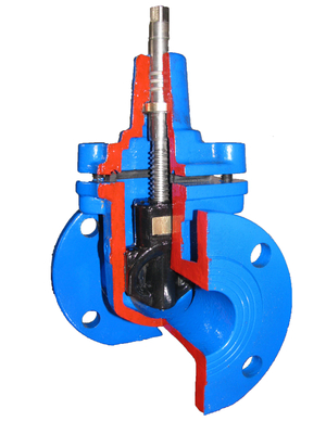 China Light Weight Flange End Resilient Seated Gate Valve DIN F4 / Ductile Iron Gate Valves supplier