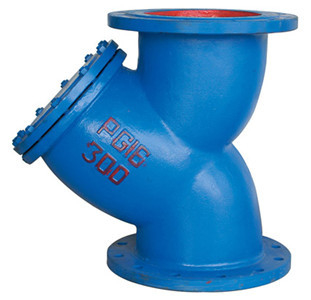 China Ductile Iron A126 GG25 Water Meter Strainer , Length According As F6 Standard supplier