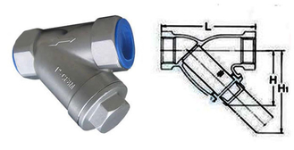 China Compact Structure Water Meter Strainer Double Ported Balance Valve System supplier