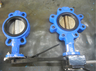 200mm Victaulic Butterfly Valves Crane Triple Offset Flanged Resilient Sealing