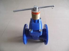 Flanged CI Resilient Seated Gate Valve Epoxy Coating With Full Bore