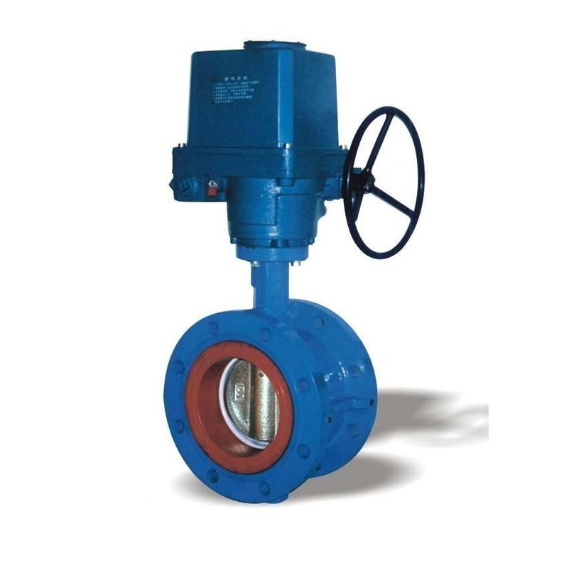electric flanged motorized butterfly valve dn450 with