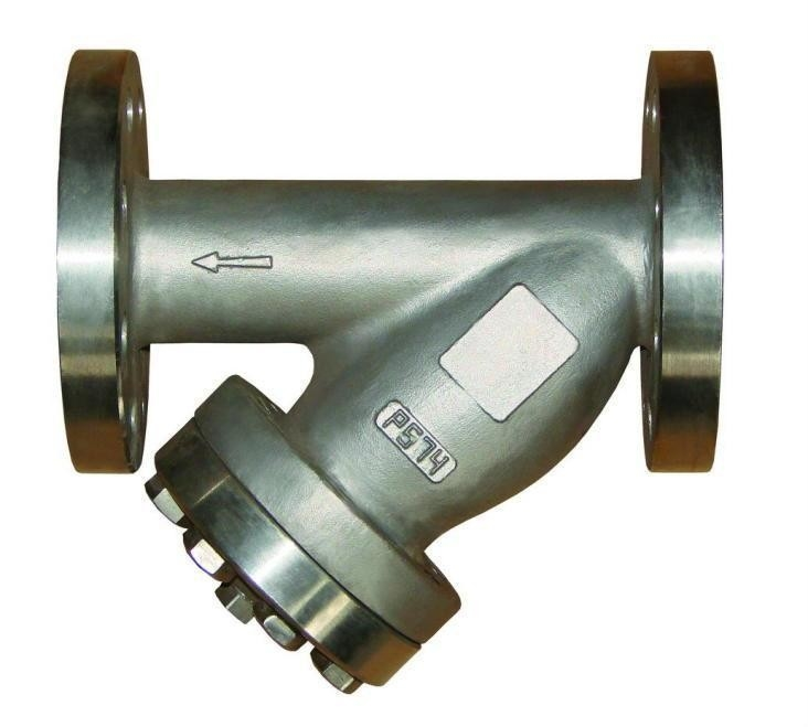 Water meter steam strainer with plug and drain valve pn