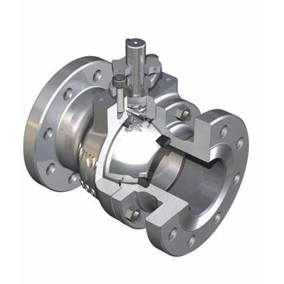 Reliable Seal Structure Floating Ball Valve For Water Treatment Industries