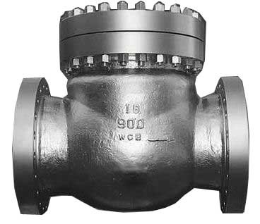 China Carbon Steel Swing Check Valve With Swing Full Bore And 150# RF Flange factory