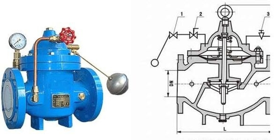 China Water Tank Float Control Valve Ductile Iron with Stainless Steel Floating Ball factory