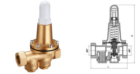 China 200P Brass Pressure Reducing Valves DN20 DN25 Conect by Thread BSP or NPT factory