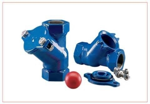 China Thread End BSP NPT Ball Check Valve Ductile Iron With Epoxy Caoting Inner And Outer factory