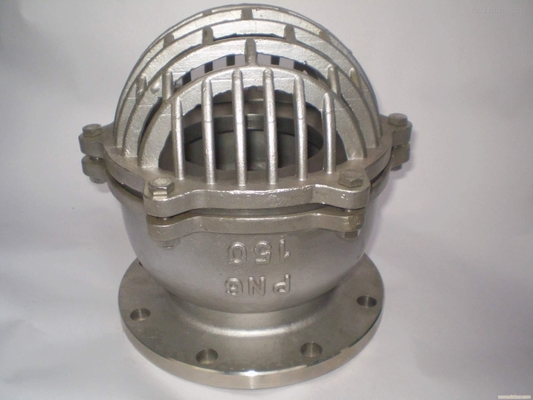 ANSI 150 RF Stainless Steel Foot Valve SS 316 Body And Bonnet Spring And Mesh