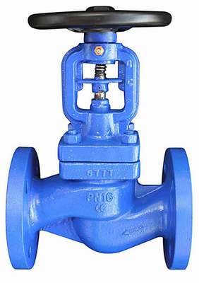 China NR DN80 PN16 Screw Down Check Globe Valve FTF-310 GGG-40.3 Flange Dia 200 – 8 Holes factory