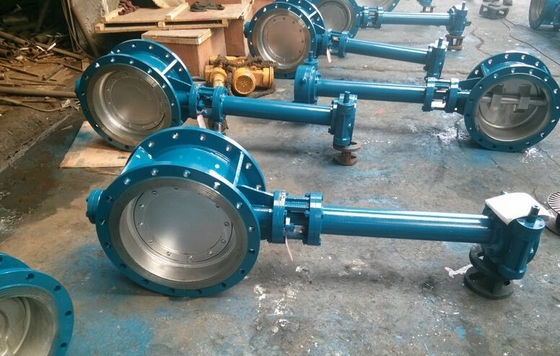 Double Flanged Butterfly Valve Adjust Tightness With Hand Wheel Dn50 To Dn400