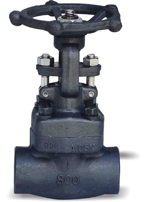 Full Bore Flanged Gate Valve , Fire Hydrant Forged Steel Gate Valve