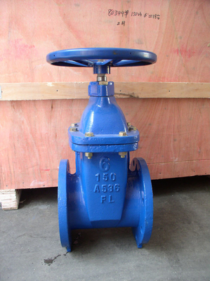 Anti Corrosion Through Conduit Slab Gate Valve Pneumatic Operated Water Supply