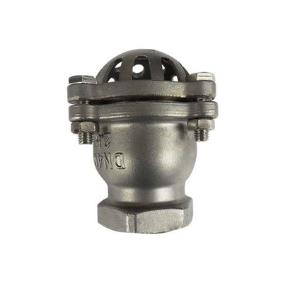 Energy Saving Stainless Steel Foot Valve With Cover , Disc And Bush