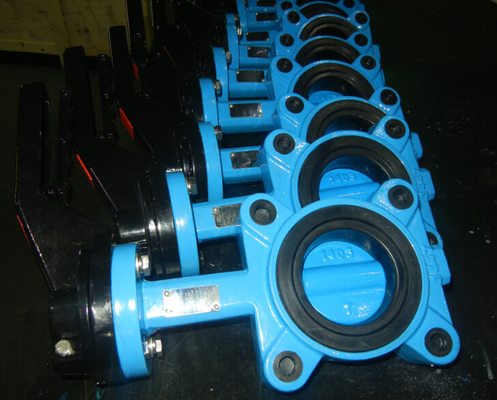 China Flange Tamper Switch Butterfly Valve , Wafer Rectangular Butterfly Valve factory