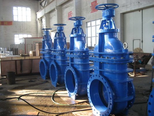 Big Size Non Rising Gate Valve / Automatic Steel Solid Wedge Gate Valve