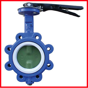 High Temperature Butterfly Valves 3 Way Ductile Iron / Stainless Steel
