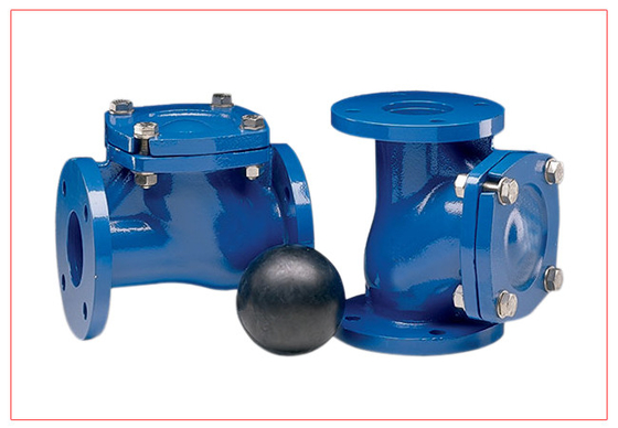 12 Inch Vertical Ball Check Valve With Epoxy Powder Coating DN15 - DN300