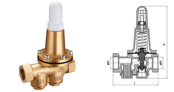 Proportional Water Pressure Relief Valve / Stainless Steel Pressure Release Valve