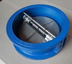 China Swing Double Disk Check Valve with SS Spring Loaded PN16 API 598 CE &  ISO factory