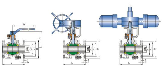 API 608/ DIN/ BS/JIS Floating Ball Valve For Water , Gas , Oil Control