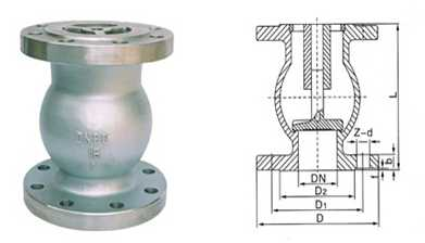Silence Check Valve DN200 / Flange drilled PN10 / SS 316 AISI / Pressure PN16