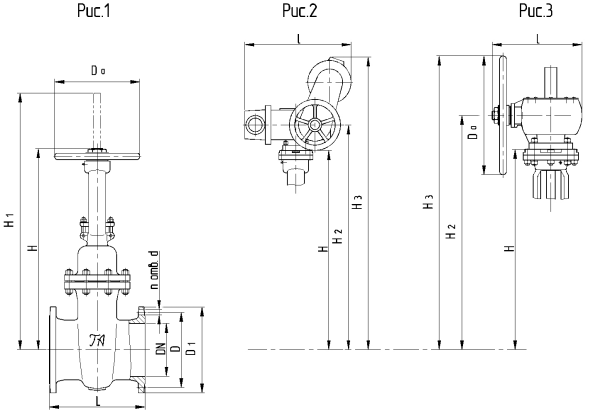 Steel wedge gate valves with a sliding spindle DN 400mm