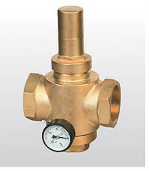 brass water pressure reducing valves with gauge pressure meter iso 9001. Black Bedroom Furniture Sets. Home Design Ideas