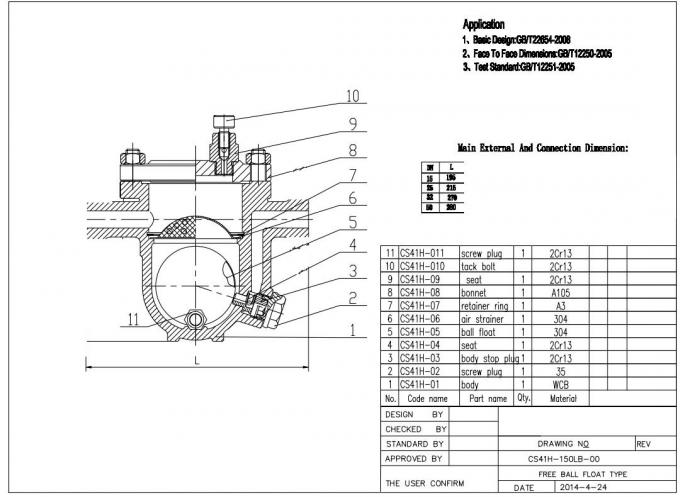 CS41 Steam Valve Floating Type , Stainless Steel Cryogenic Ball Valve